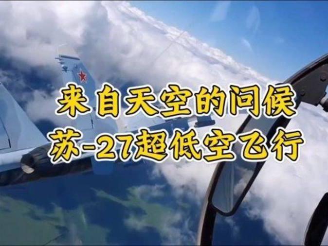 「飞机一直低空飞行」苏-27超低空飞行