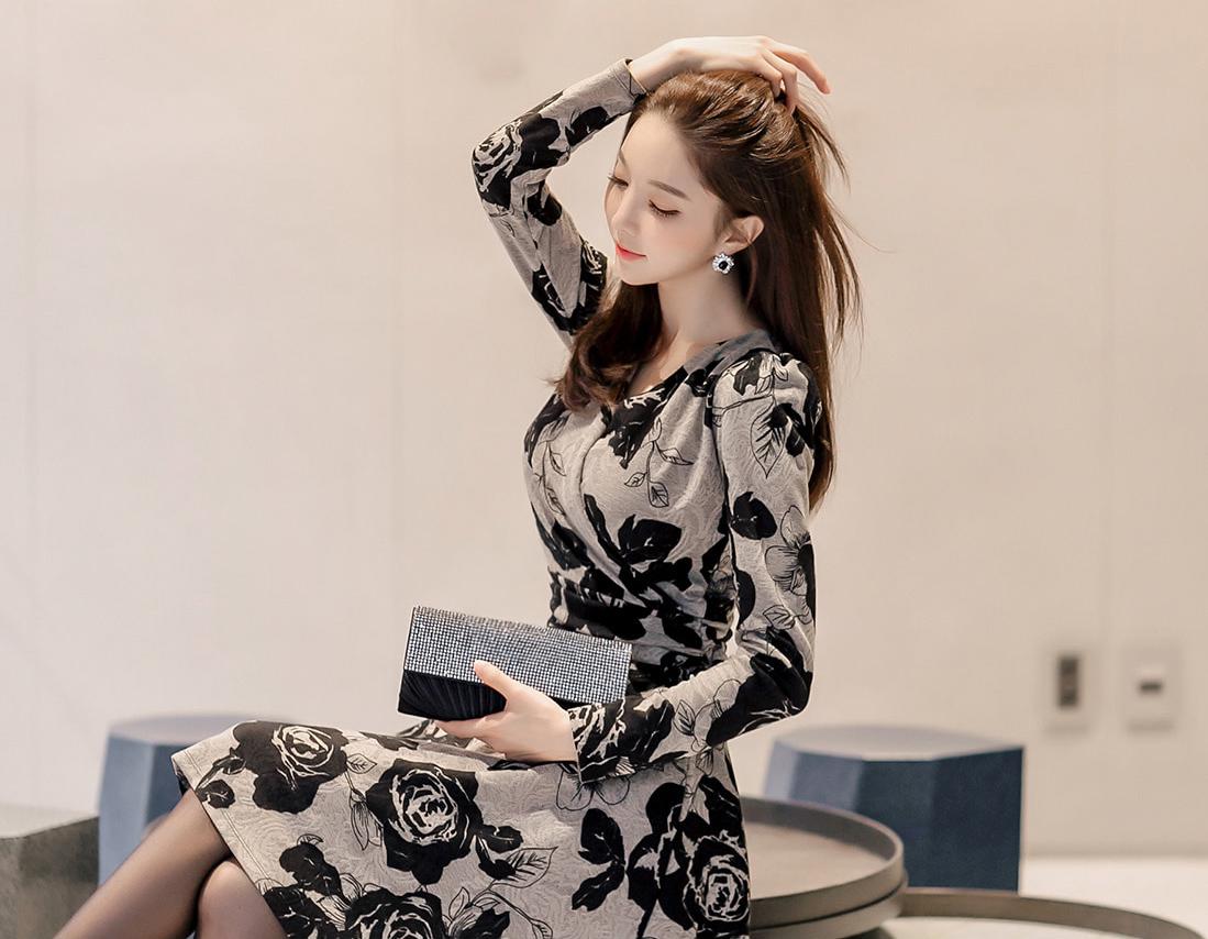 2020女生秋季时尚穿搭图片|朴秀妍新款秋冬连衣裙 甜蜜暴击你的视觉