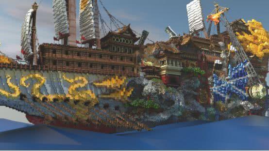 《我的世界》里大神花3年用掉5億個方塊造飛船 目前進度約七成 【我的世界Minecraft】