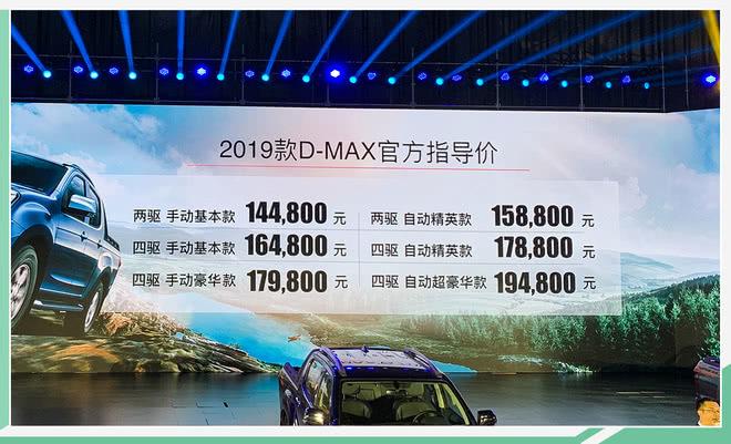 改款升級/加量不加價 2019款D-MAX售14.48萬起 【網通社】