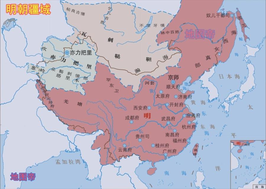 明朝的两京十三省,指的是哪些地方?