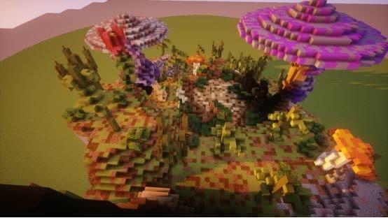 《我的世界》蘑菇征服世界?這里一朵彩色蘑菇就能讓史蒂夫暈三天 【我的世界Minecraft】