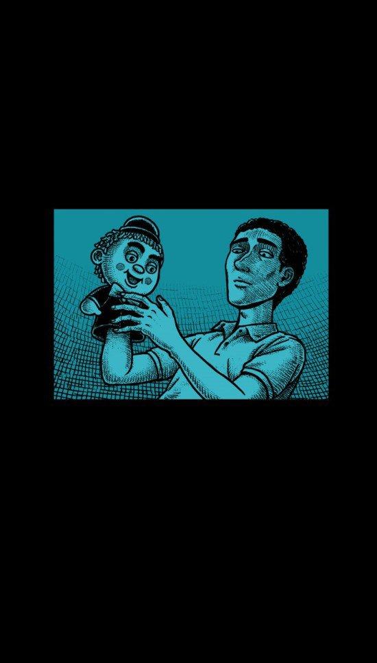 黑色放映机《偶戏》图片