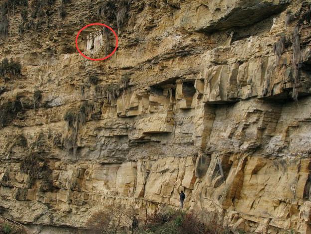 男子农村山崖上发现人像,以为是考古重大发现,凑近一看,吓傻了!